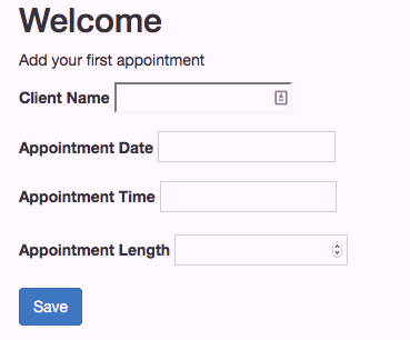 Adding appointments is a snap